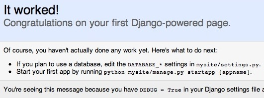Hello World Django