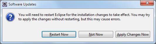 Eclipse Restart